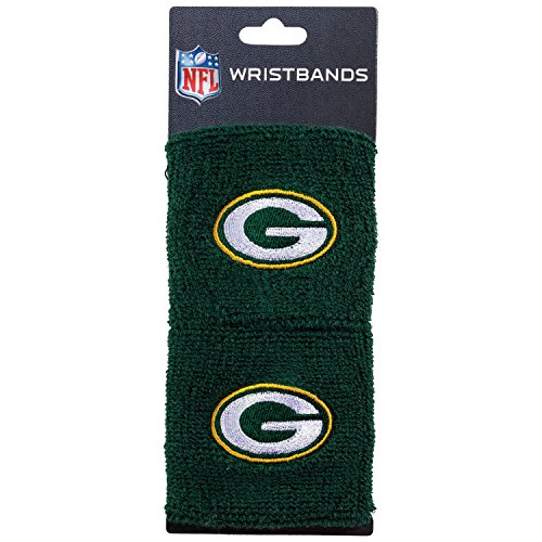 Franklin Sports Green Bay Packers Wristbands - 2.5