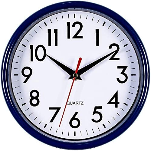 Navy Blue Penguin Wall Hanging Clock