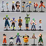 20pcs/lot Dragon Ball Z GT Action Figures Crazy Party 10CM Cell/Freeza/Goku PVC Dragonball Figures Best Gift Cute Doll Toys dra-7