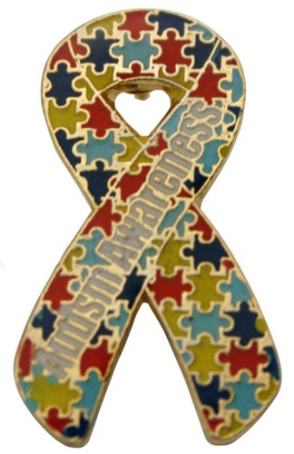 Autism Awareness Puzzle Ribbon Pin - Die (Autism Awareness Puzzle Ribbon)