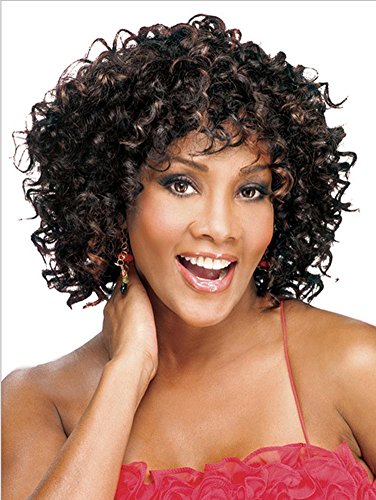 2017 Trendy Afro Small Curls Black Short Full Wig , picture (Tokyo 2017 Halloween)