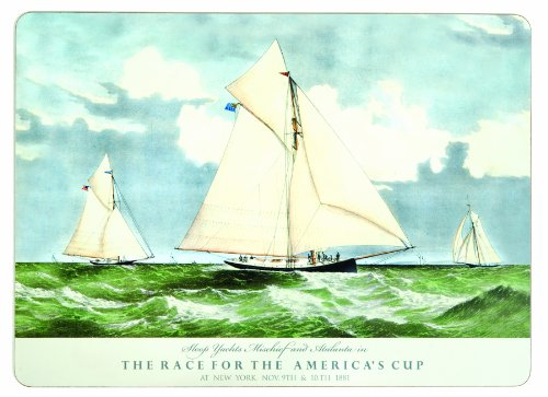 rockflowerpaper America's Cup 1881 Dining Placemats, Set of 4