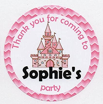 Paw Patrol blue or pink  Birthday Party Sticker Thank you Sweet cone 12,15 or 35