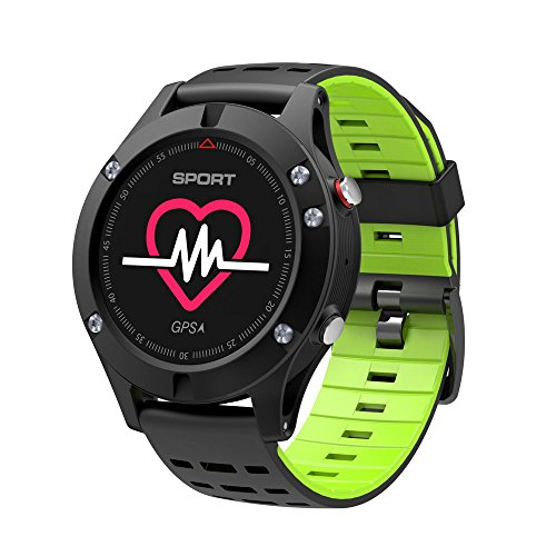 KOBWA GPS Smart Watch,Sports Watch for Outdoor Activities with Built-in Heart Rate Monitor Altimeter Temperature Measure Multiple Sport Modes Waterproof Fitness Tracker Surpport Android & IOS