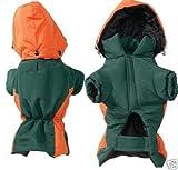 Z and Z Base Camp Parka Med Green/Orange, My Pet Supplies