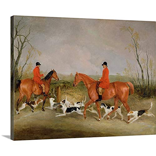 Richard Barrett Davis Premium Thick-Wrap Canvas Wall Art Print Entitled George Mountford, Huntsman to The Quorn, and W. Derry 20