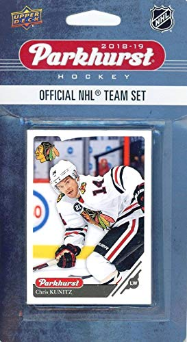 Nhl Box Cards Trading - Chicago Blackhawks 2018/19 Upper Deck Parkhurst NHL Hockey EXCLUSIVE Limited Edition Factory Sealed 10 Card Team Set including Brent Seabrook, Nick Schmaltz & All the Top Stars & RC's! WOWZZER!