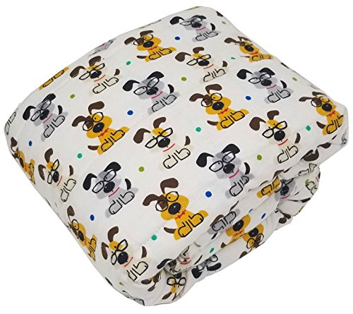 Designer Weighted Blanket for kids (or adult) | Dozens of cute styles in many sizes | Gravity blankets may help relieve anxiety, stress & insomnia | Style - Study Puppy | Flannel - 6 lbs by The Swanky Stitchery (Image #2)