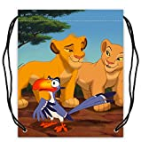 Cheap The Lion King Pattern Polyester Fabric Basketball Drawstring Bags Drawstring Tote