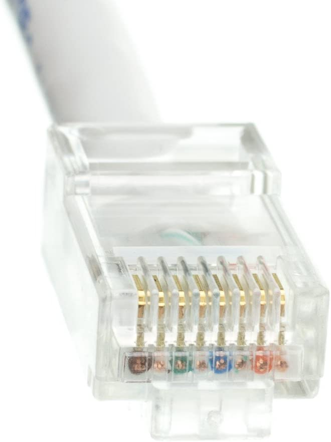 Pack of 20 1 Foot Bootless Konnekta Cable Cat6 White Ethernet Patch Cable