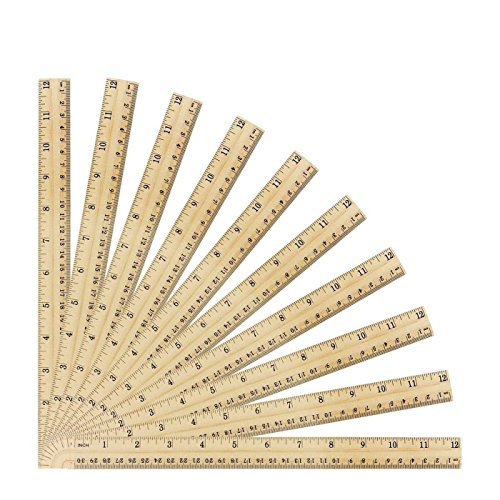 Betan 30 Pack Wooden Rulers Student Rulers Wood School Rulers Measuring Ruler Office Rulers,2 Scale,30 cm and 12 inch by Betan (Image #5)