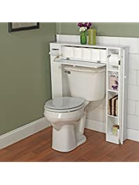 Over The Toilet Space Saver By Simple Living. 1 Center Cabinet And 2 Side  Cabinets