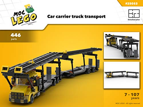 Car carrier transport truck (Instruction Only): MOC LEGO por Bryan Paquette