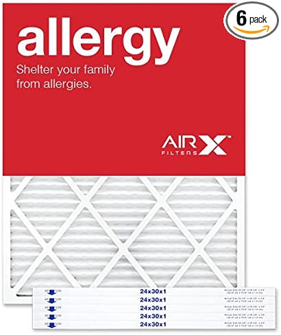 6 Pack 24x30x1 Dust and Pollen Merv 8 Replacement AC Furnace Air Filter