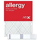 AIRx Filters Allergy 24x30x1 Air Filter MERV 11 AC Furnace Pleated Air Filter Replacement Box of 6, Made in the USA