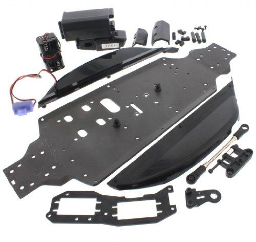 (Hobao Hyper 7 TQ Ofna CHASSIS, STONE GUARDS, RADIO TRAY, BATTERY BOX & HOLDER )