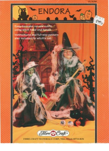 Endora - How To Make No-Sew Halloween Witch Costumes & Cats Booklet for Halloween Projects By Fibre-Craft for $<!---->