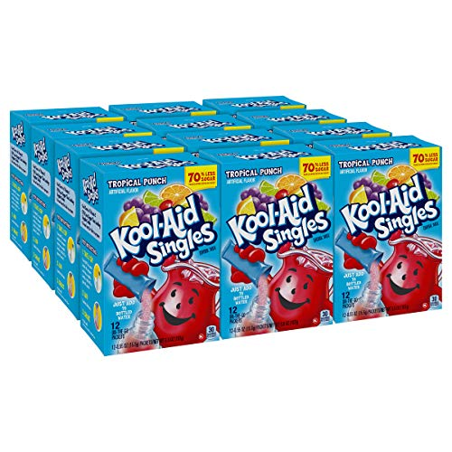 Kool-aid Singles Tropical Punch 12-0.55 OZ Packets (Pack - 12)