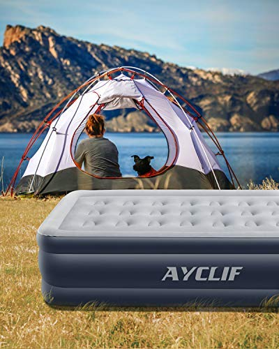 544a27f0016 AYCLIF Upgraded Air Mattress Twin Size Blow Up Raised Airbed