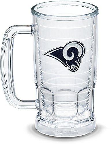 Tervis 1303298 NFL Los Angeles Rams Primary Logo Insulated Tumbler with Emblem 16oz Beer Mug Clear ()
