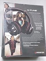 TopOne Monster Ncredible N Tune on Ear Black Red Headphones New SEALED 050644651991