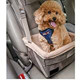 Premium Quality Car Pet Booster Seat for Dogs or Cats | Front & Rear Dog Car Seat | Dog Seatbelt Tether Included | Carrier Carseat for Pets Up to 30 Pounds | Helps with Canine Car Sickness