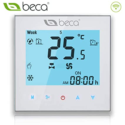 Beca 1000 Series Thermostat Two/Four Pipe for Air Conditioning Fan Coil of White Backlight