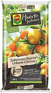 Compo 2076704011 Substrato Huerto Urbano Cítricos 20 L, 56x32x8 cm