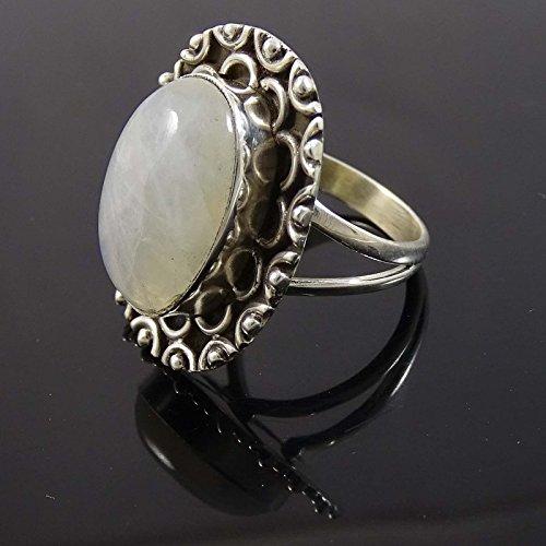 Banithani 925 argent massif bijoux bande anneau concepteur Moonstone femmes de la mode