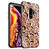Phone Case for Samsung Galaxy Note 9,Tempered Glass Back Cover for Scratch and Fall Resistance DT-53 Kimoji Kim Kardashian North Kylie Jenner