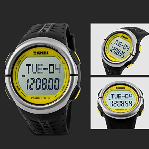 Maxmaxi Unisex Waterproof Multifunction Sport Wrist Watch Yellow