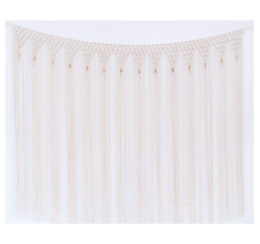"Pantaknot Large Macrame Wedding Backdrop Boho Decor Wall Hanging Arch Window Covering Headboard Curtain, 62""W x 60""L"