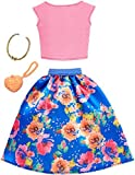 #6: Barbie Complete Looks Floral Skirt Top, Pink