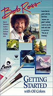 Weber Bob Ross Getting Started with Oil Colors [VHS] by Bob Ross (B00000JGK9) | Amazon Products