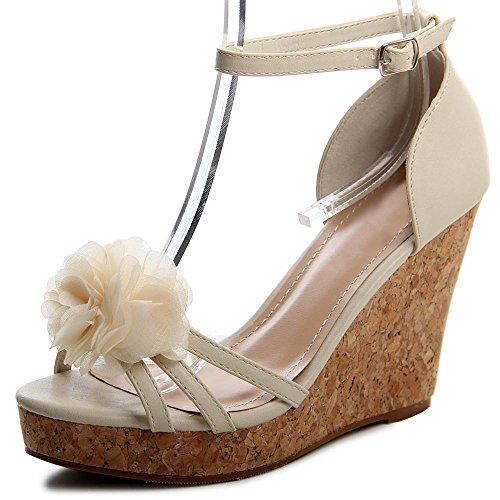 topschuhe24 - Sandalias de vestir para mujer Beige - beige