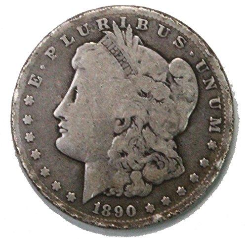 1890 CC Morgan Silver Dollar $1 Acceptable Conditon