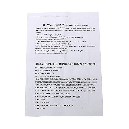 8MILELAKE 14 PCs Pressure Cooling System car Leak Tester Kit Detector Tool Auto Coolant Vacuum Purge Head Gasket Water Tank Adapter Universal Automotive by 8MILELAKE (Image #6)