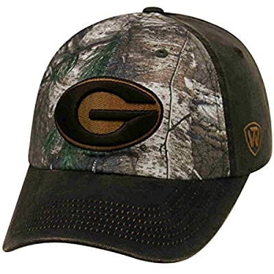 Georgia Bulldogs TOW Brown Realtree Camo Driftwood Adjustable Slouch Hat Cap from Top of the World