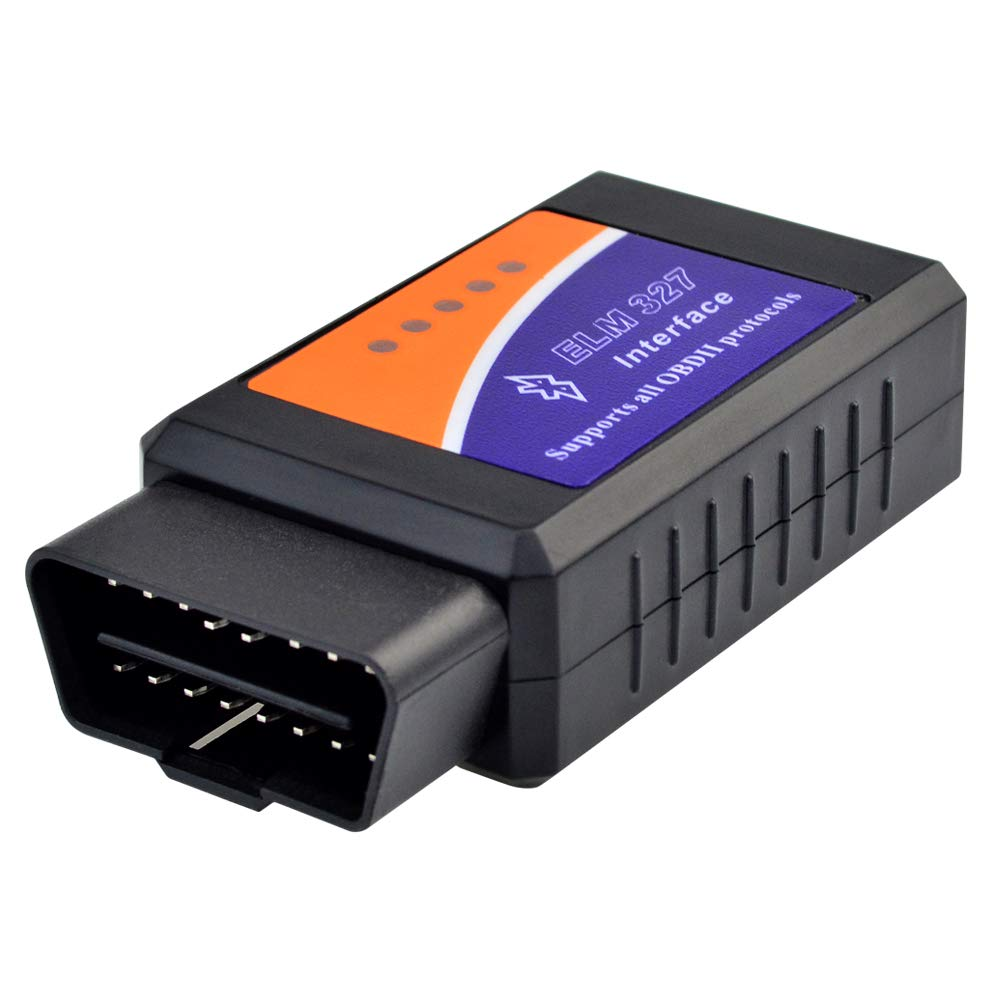 Jerbro OBD2 Bluetooth Scanner, OBD2 Bluetooth Adapter Diagnosegerät, Motorkontrollleuchte Diagnosegerät für Android und Windows