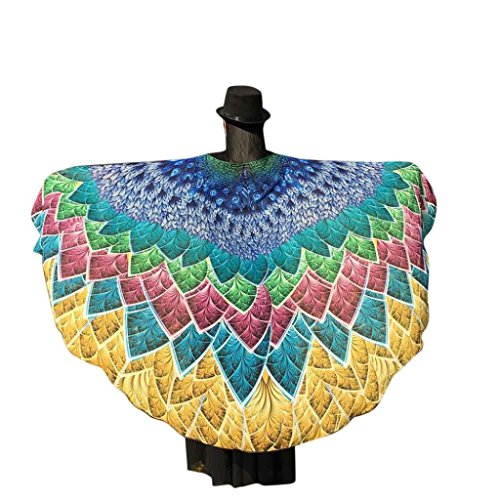 VESNIBA Soft Fabric Butterfly Wings Shawl Fairy Ladies Nymph Pixie Costume Accessory (197125CM, Yellow -1)]()