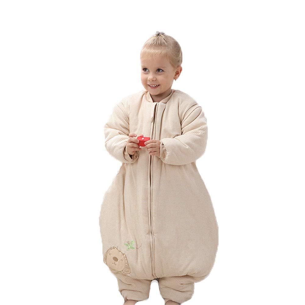 ベビー用寝袋赤ちゃんコットン赤ちゃんスプリットレッグ寝袋秋と冬厚い子供カラーコットンアンチキックキルト暖かく保つ。 Large Plusthick B07JMZDJT6