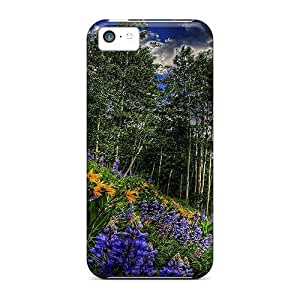 LJF phone case For iphone 6 plus 5.5 inch Premium Tpu Case Cover At The Side Of The Road Protective Case