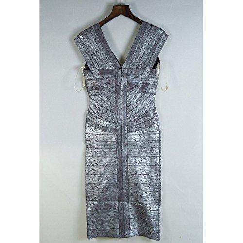 Violett Blau Violett Grau HLBCBG Damen Kleid BS6I8x4v