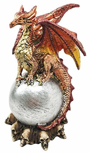 Magmatite Pyre Dragon Lord Guardian of Volcanic Orb Figurine Myth & Legends Collectible Statue Decor ()