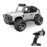 Vatos Remote Control Cars RC Cars Off Road High Speed 4WD 45km/h 1:22 Scale 50M Remote Control 2.4GHz Electric Vehicle Buggy RC Trucks with LED Night Vision VL-BG1511B-W (Silver)