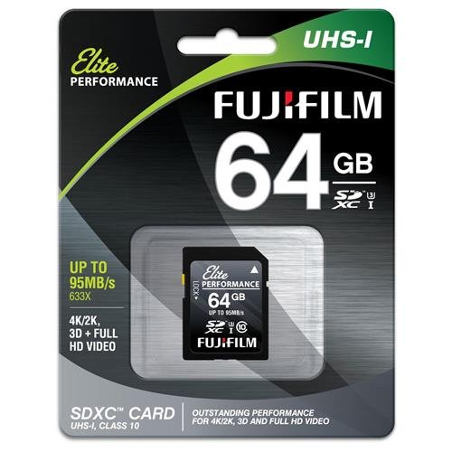 Fujifilm Elite Performance - Flash Memory Card - 64 GB - SDXC UHS-I, Black (600013605)
