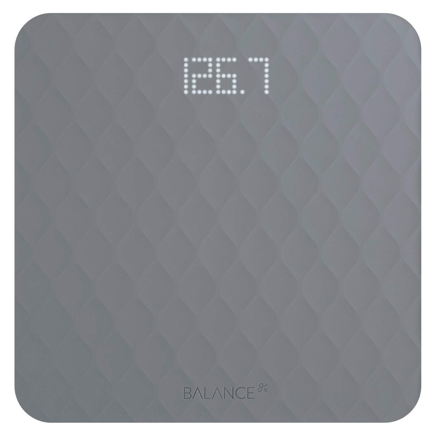 Greater Goods Designer Bathroom Scale with Textured Silicone Cover - Gray