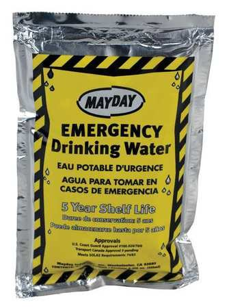 Emergency Drinking Water, 4.227 oz, PK100