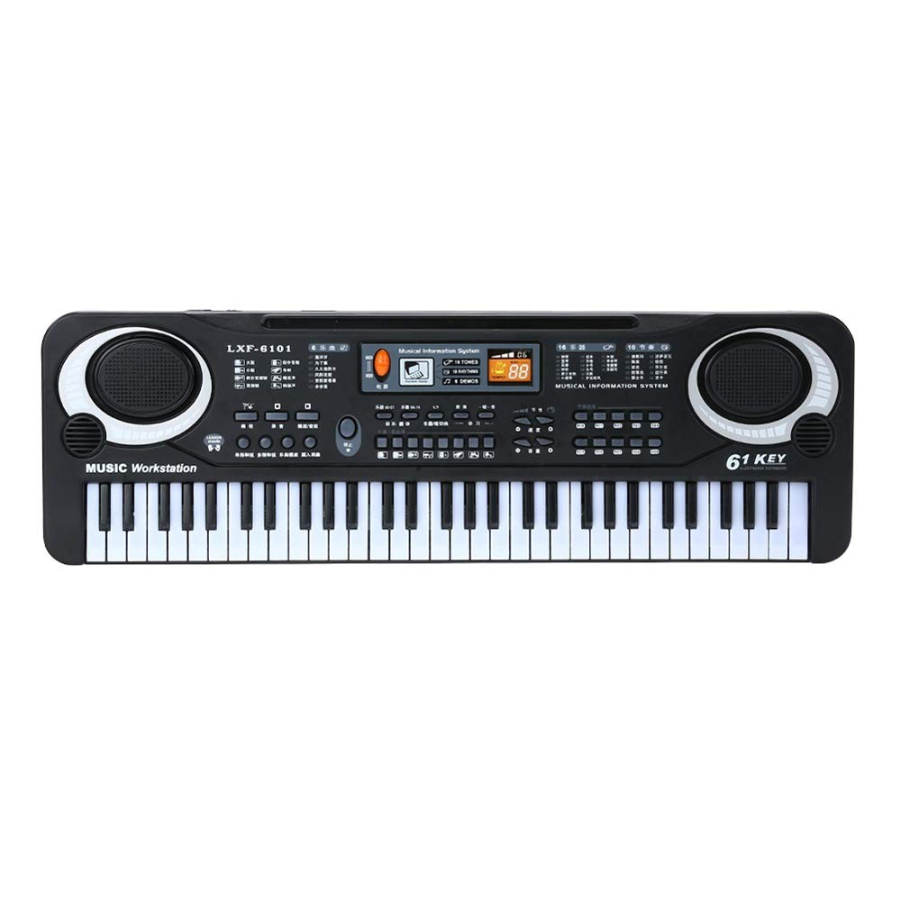 Muslady 61 Keys Black Digital Music Electronic Keyboard Key Board Electric Piano Kids Gift Musical Instrument