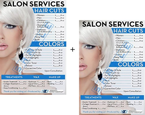Salon Posters-Price List for Beauty Salon in a combo 36 h X 24 w Already Laminated